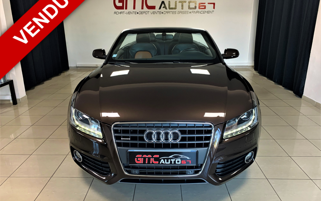 AUDI A5 CABRIOLET 2.0 TFSI 211CH AMBIENTE QUATTRO S-TRONIC – 2011